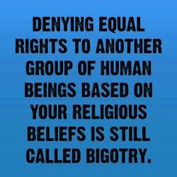 DENYING EQUAL 