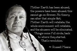 Mother Earth has been abused, 