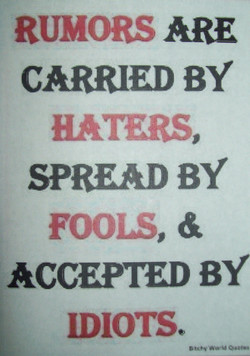 RUMORS ARE 