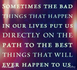 OMETIMES THE BAD 