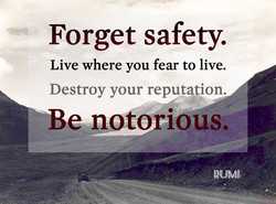 Forget safety. 