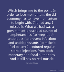 Which brings me to the point: In 