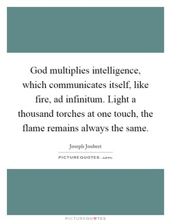 God multiplies intelligence, 