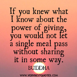 If you knew what 