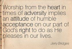 Worship from the heart in 