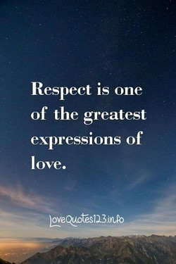 Respect is one 