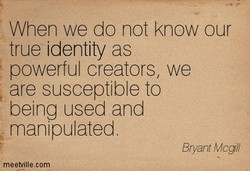 When we do not know our 