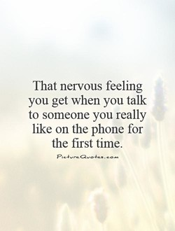 That nervous feeling 