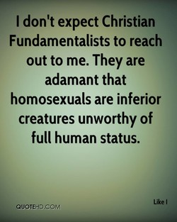 I don't expect Christian 