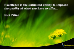 Excellence is the unlimited ability to improve 