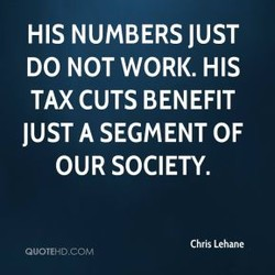 HIS NUMBERS JUST 