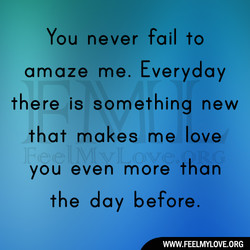 You never fail to 