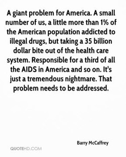 A giant problem for America. A small 