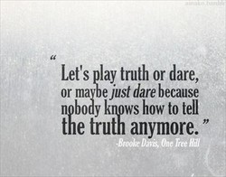 Let's lay truth or dare, 