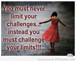 ou must never 