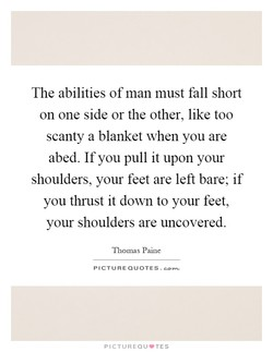 The abilities ofman must fall short 