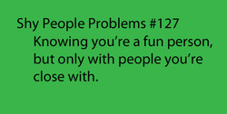 Shy People Problems #127 