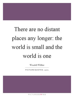 There are no distant 