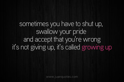 sometimes you have to shut up, 