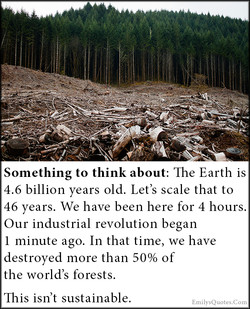 Something to think about: The Earth is 