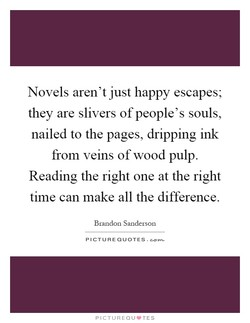 Novels aren't just happy escapes; 