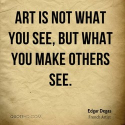 ART IS NOT WHAT 