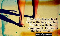 Life is the best school: 