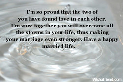 I'm so proud that the two of 