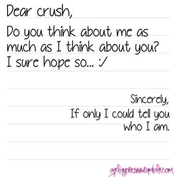 Dear crush, 