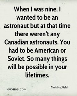 When I was nine, I 