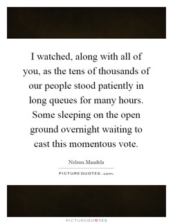 I watched, along with all of 