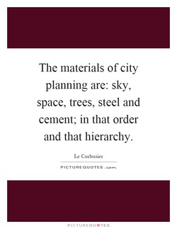 The materials of city 