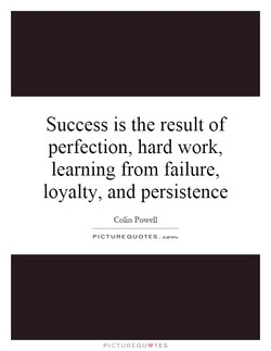 Success is the result of 