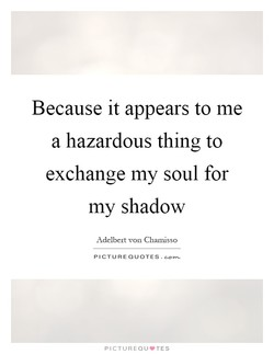 Because it appears to me 