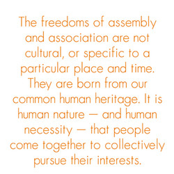 The freedoms of assembly 