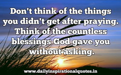 Don't think of the things 
