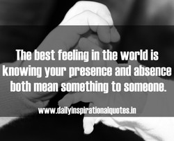 The best feeling in the world is 