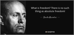 What is freedom? There is no such 