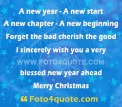 A new year -A new start 
