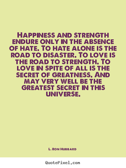 HAPPINESS AND STRENGTH 