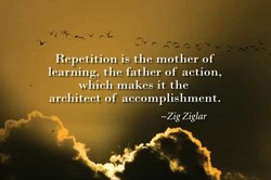 Repetition is the mother of 
