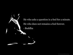 He who asks a question is a fool for a minute. 
