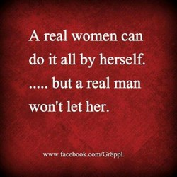 A real women can 