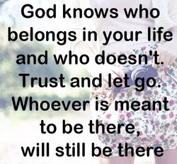 God knows who 