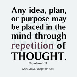 Any idea, plan, 