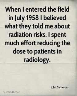 When I entered the field 