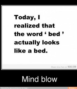 Today, I 