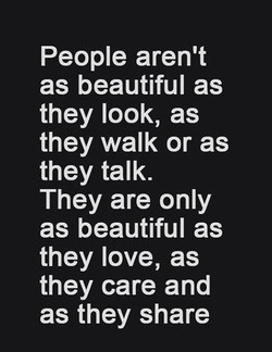 People aren't 