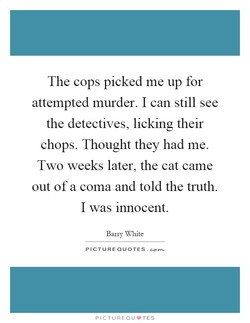 The cops picked me up for 