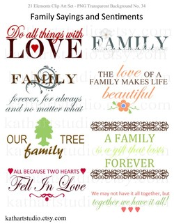 21 Elements Clip Art Set - PNG Transparent Background No. 34 